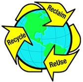 Reclaim. Recycle. Reuse. Reduce waste by using recycled ground materials