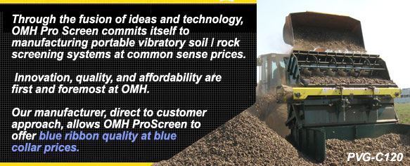OMH ProScreen topsoil screeners